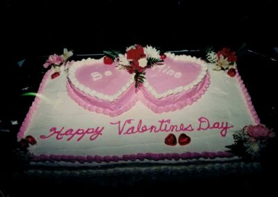 Cake for Friendship centre timers Valentines day